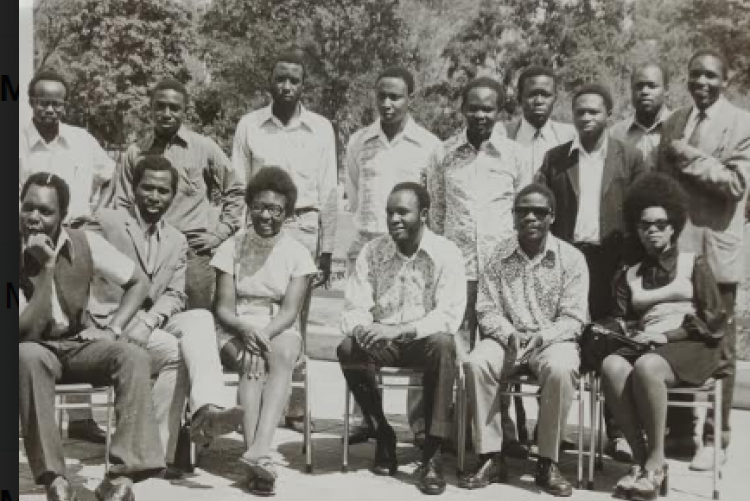 Standing from left; Planner Makunda, 2nd; Plan, Kinyanjui and 3rd Planner Mugo